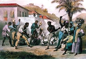 Capoeira ou la danse de la Guerre par J.M. Rugendas 1835